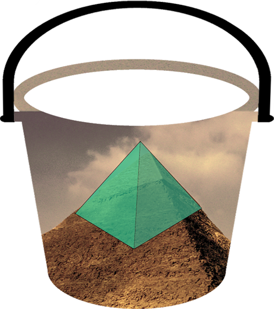 Tile pyramid cut to level 20