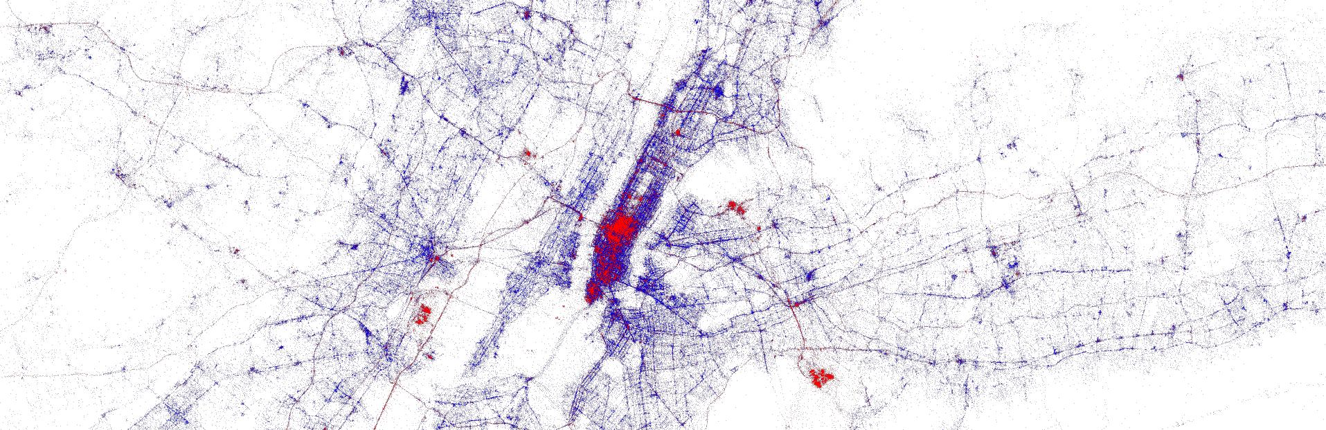 Twitter metadata for NYC
