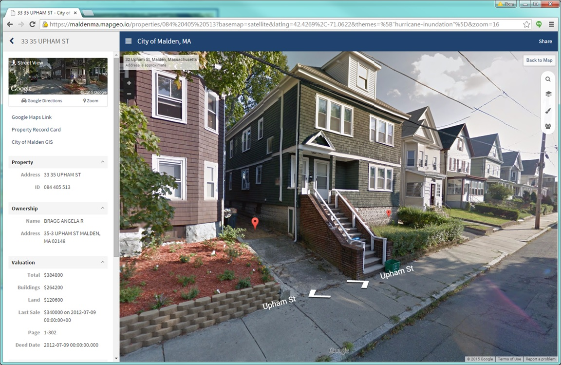 MapGeo 2.0 combines your authoritative property data with Google Maps and Street View