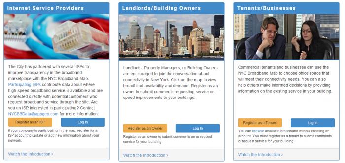 NYCEDC Broadband Web App - providers information