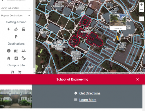 Rutgers University – Online Campus Map Powered by Google Maps Platform