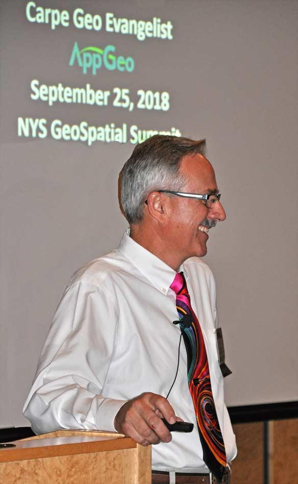 Bill Johnson gives Carpe Geo talk