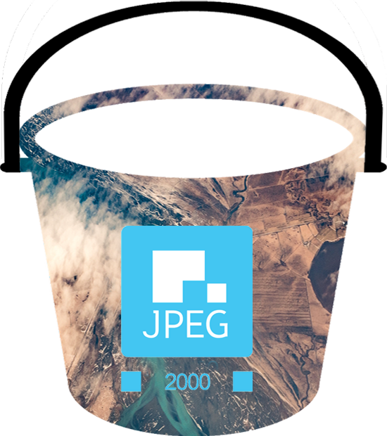 Raw imagery files JPEG2000's