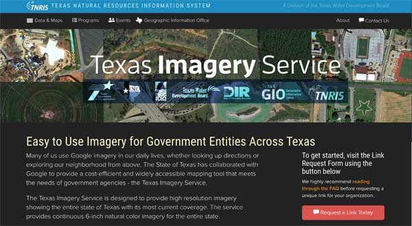 Texas Imagery Service website